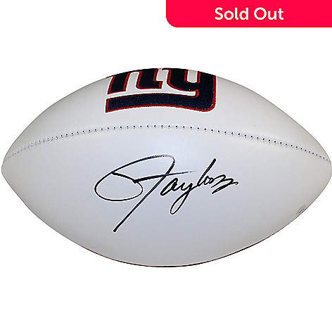 18b7de84 Steiner Sports Memorabilia Lawrence Taylor New York Giants Signed White  Panel Jarden Football