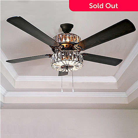 472 061 Style At Home With Margie 52 Caged Crystal Ceiling Fan