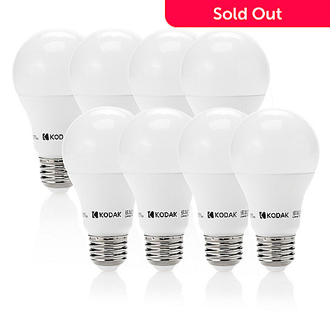472 630 Kodak Set Of 8 60w Equivalent Led Light Bulbs