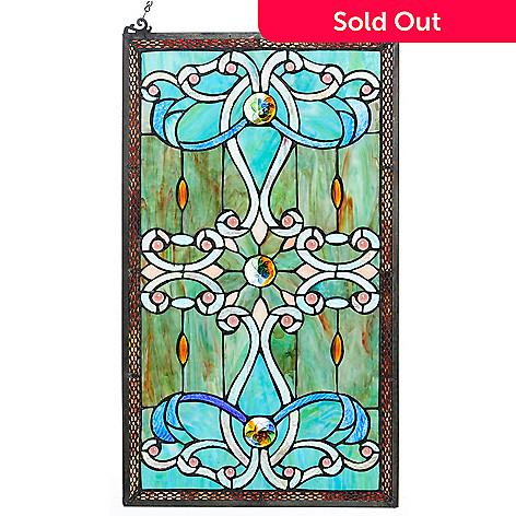 472 879 Tiffany Style 26 Brandi Stained Gl Window Panel W