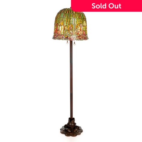 Tiffany Style 59 Pond Lily Stained Glass Floor Lamp Evine