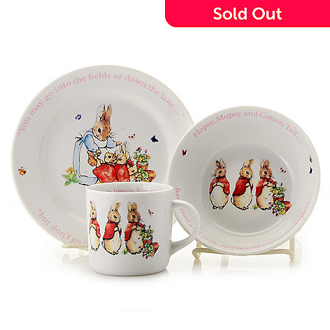 473 721 Wedgwood Peter Rabbit 3 Piece Ceramic Nursery Set