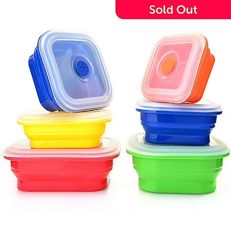 3a7511550 473-741- Storable Solutions 12-Piece Collapsible Covered Silicone Cook & Store  Set