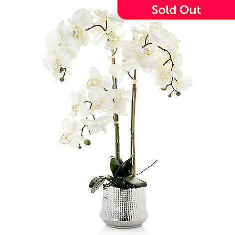 473 775 Donny Osmond Home 27 Faux Orchid Ceramic Flower Pot
