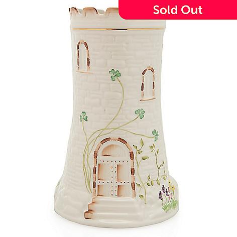 Belleek 10 Hand Crafted Porcelain Castle Vase Evine