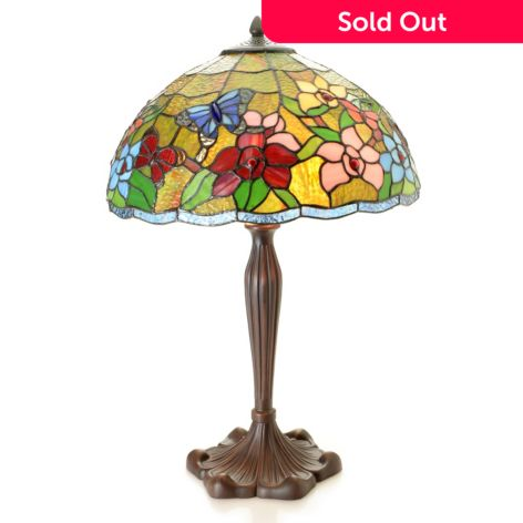 Tiffany Style 24 5 Butterfly Collection Stained Glass Table Lamp