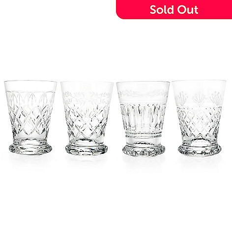 25f1ca440d46 Waterford Crystal Heritage Set of 4 (6 oz) Mixed Pattern Tumblers ...