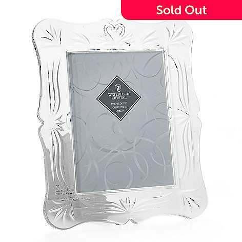 Waterford Crystal Love 5 X 7 Picture Frame W Scalloped Edge Evine