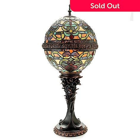 476 933 Tiffany Style 27 Empress Orb Stained Gl Table Lamp