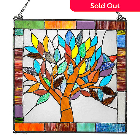 476 952 Tiffany Style 18 5 Tree Of Life Stained Gl Window Panel