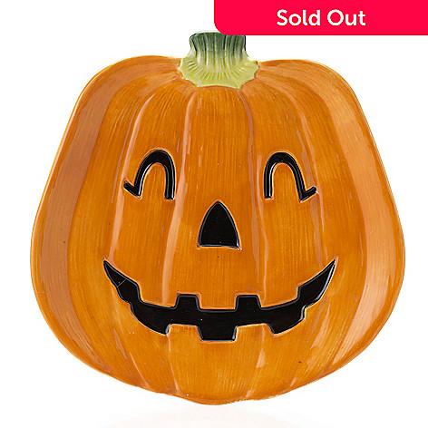 476 956 fitz and floyd halloween hollow 9 hand painted pumpkin plate