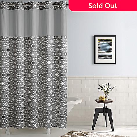 479 323 SureFit Prism 74 Hookless Shower Curtain
