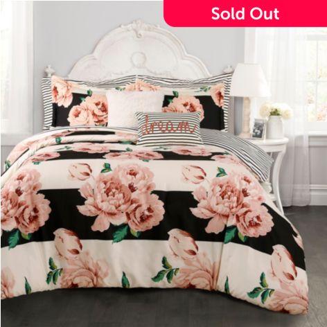 Lush Decor Amara Fl Print 7 Piece Comforter Set