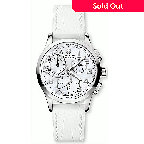 611-179- Victorinox Swiss Army Women s Alliance Swiss Made Quartz  Chronograph Mother-of 013342f8da