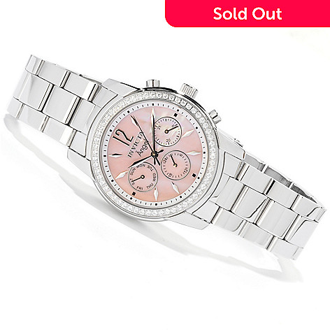Invicta Women's Angel Crystal Accented Bezel Mother-of-Pearl Bracelet Watch