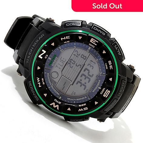 4cc42749135 617-157- Casio 54mm ProTrek Quartz Atomic Solar Ana-Digi Rubber Strap Watch
