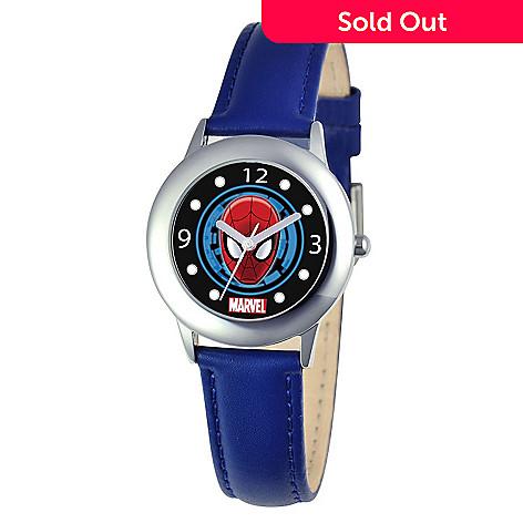 41ea40f90 620-201- Marvel Tween Spiderman Kids  Time Teacher Japanese Quartz Dark Blue  Leather