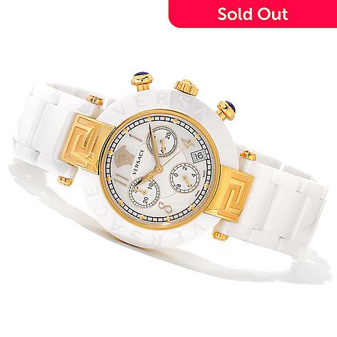 d8177cfab 620-869- Versace Women's Reve Swiss Made Quartz Chronograph Ceramic  Bracelet Watch