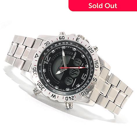 622 468 Stauer Men S Compendium Hybrid Digital Og Stainless Steel Bracelet Watch