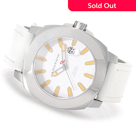Android 48mm Parma Automatic Stainless Steel Leather Strap Watch
