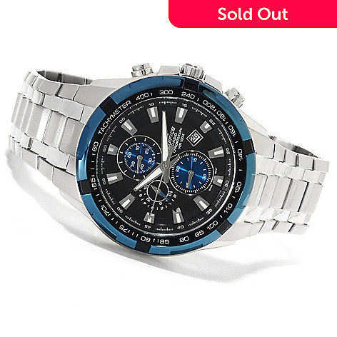 623-320- Casio Men s Edifice Quartz Chronograph Stainless Steel Bracelet  Watch 65c6ee9de56