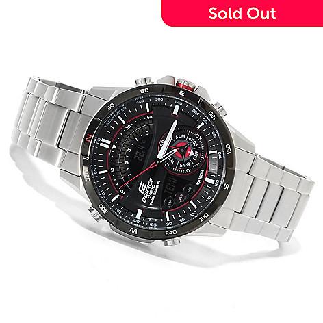 0bbc9c0a9 623-326- Casio Men's Edifice Ana-Digi Quartz Chronograph Stainless Steel  Bracelet Watch
