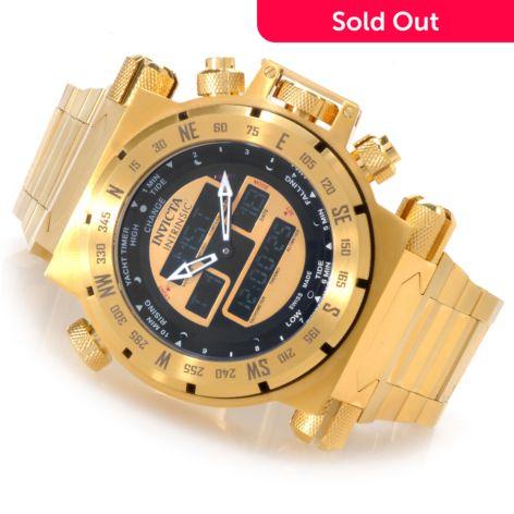 Invicta Men's Coalition Force Swiss Ana/Digi Stainless Steel Bracelet Watch