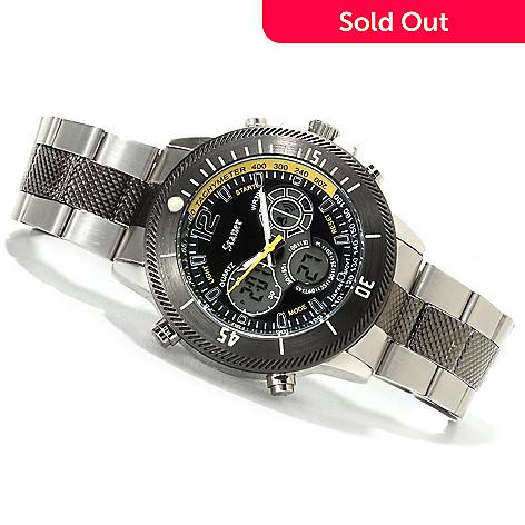 624 405 Stauer 44mm Colossus Hybrid Digital Og Chronograph Bracelet Watch