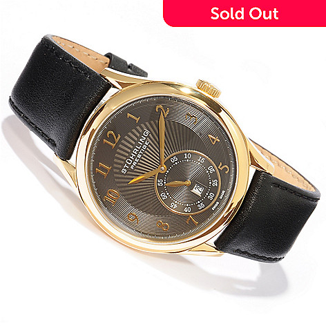 Stuhrling Prestige 42mm Paragon Swiss Made Automatic Leather Strap