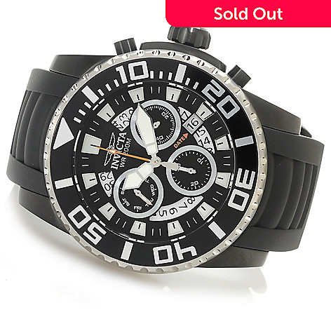 835183b4d 626-565- Invicta 52mm Pro Diver Z60 Swiss Chronograph Stainless Steel  Polyurethane Strap Watch