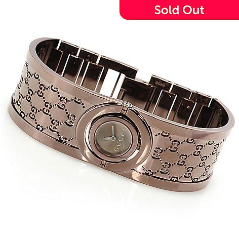 be094f81215 626-578- Gucci Women s Twirl Swiss Made Quartz Bangle Bracelet Watch