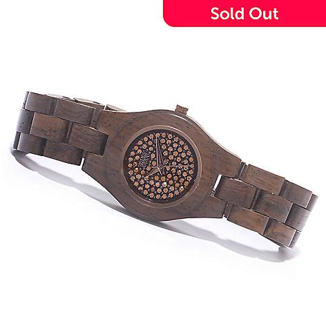 ab3d2cbd012cd0 626-896- WEWOOD Women s Moon Crystal Quartz Wooden Bracelet Watch