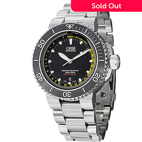 94b3df1d9 627-396- Oris 46mm Aquis Depth Gauge Swiss Automatic Stainless Steel  Bracelet Watch