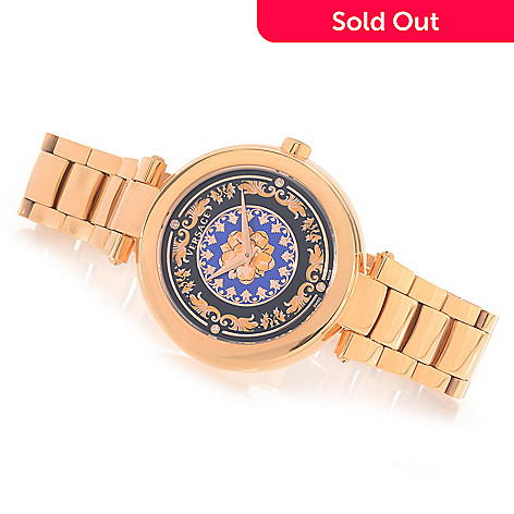 e2e69d5d14d 627-490- Versace Women s Mystique Foulard Swiss Made Quartz Diamond  Accented Bracelet Watch