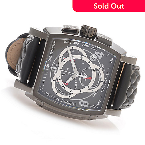 ac255dc6a 627-988- Invicta S1 Rally Swiss Made Quartz Chronograph Stainless Steel  Leather Strap Watch