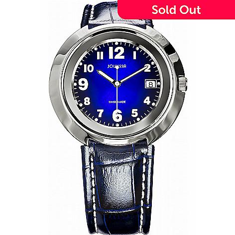 9f40b0d5a22 628-025- Jowissa Women s Pegasus Swiss Made Quartz Sunray Dial Leather  Strap Watch