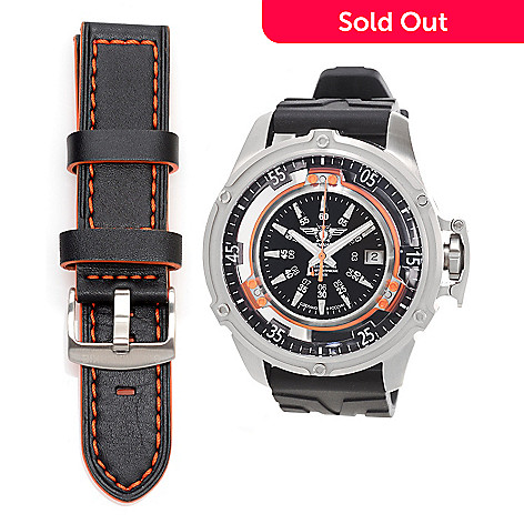 628-526- Sturmanskie 50mm Mars Cosmonaut Trainer Swiss Automatic Rubber  Strap Watch d32d3d0e942