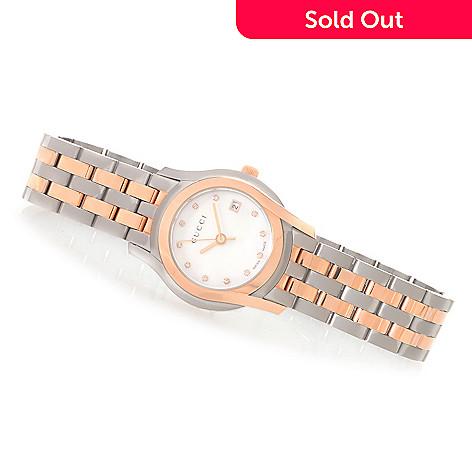 32bd76a846b 629-259- Gucci Women s G Class Swiss Quartz Diamond Accented Stainless Steel  Bracelet Watch