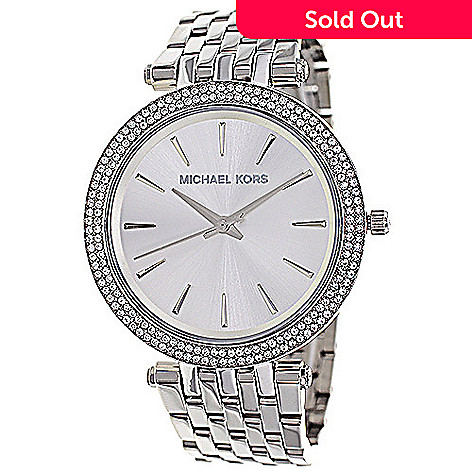 680a34f01fdc 629-287- Michael Kors Women s Darci Quartz Crystal Accented Stainless Steel  Bracelet Watch