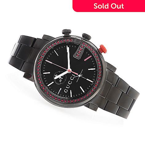 44776baa1e5 629-651- Gucci 43mm G-Chrono Swiss Quartz Chronograph 0.84ctw Gemstone  Stainless