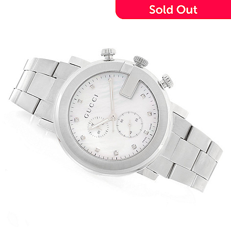 9fede4f5a4f 629-652- Gucci 43mm G-Chrono Swiss Quartz Chronograph Diamond Accented  Stainless Steel