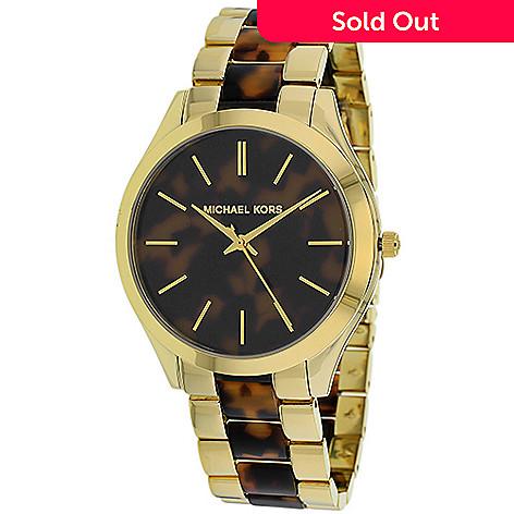 17ab12f6e899 630-135- Michael Kors Women s Runway Quartz Two tone Stainless Steel  Bracelet Watch