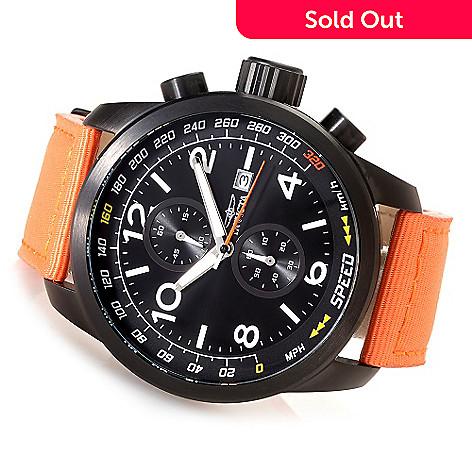 e08e7ed25 630-242- Invicta 50mm Aviator Quartz Chronograph Nylon Strap Watch w/ Three-