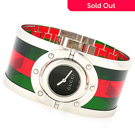 08b6266d451 630-427- Gucci Women s Twirl Swiss Made Quartz Bangle Bracelet Watch