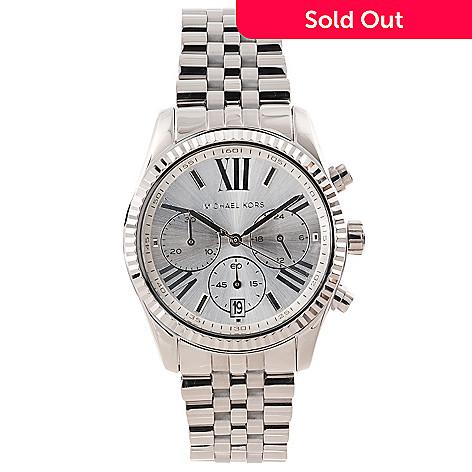 a493ace31f29 630-880- Michael Kors Women s Lexington Quartz Chronograph Stainless Steel  Bracelet Watch