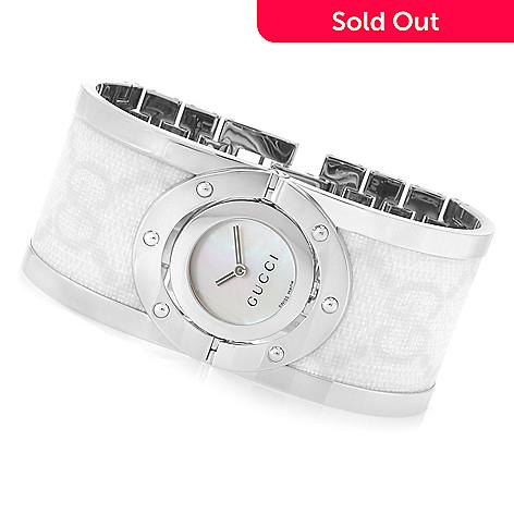 b9b0fd1ea 630-925- Gucci Women's Twirl Swiss Made Quartz Sapphire Crystal Bangle  Bracelet Watch