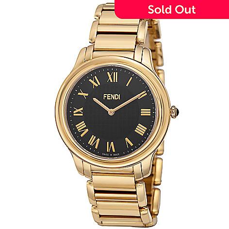 0ee51aa27182 631-032- Fendi Men s 40mm Classico Swiss Made Quartz Stainless Steel  Bracelet Watch
