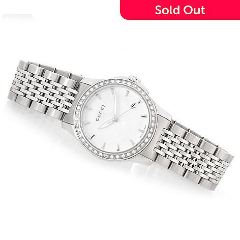 d4d87ed4ac0 631-062- Gucci Women s G-Timeless Swiss Made Quartz 0.21ctw Diamond Bracelet