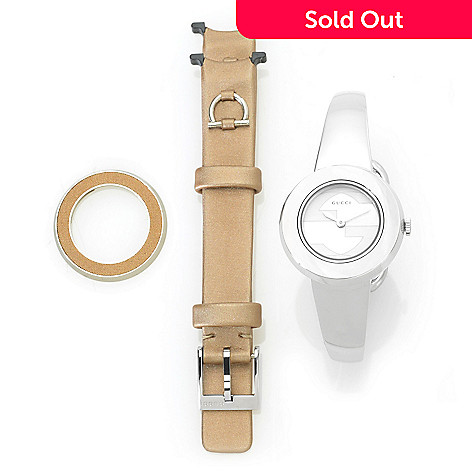 e2e5e80bcc7 Gucci Women s U-Play Swiss Made Quartz Bracelet Watch w  Extra Strap ...