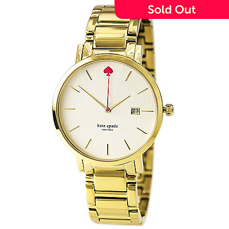 Kate Spade Women S Gramercy Grand Quartz Date Stainless Steel Bracelet Watch